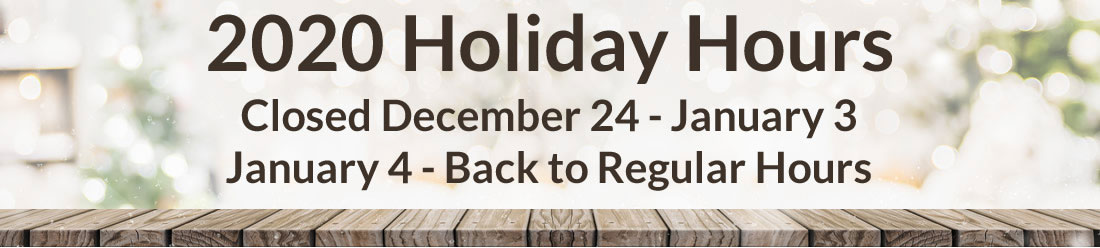 Turkstra Lumber 2020 Holiday Hours - Closed December 24 - January 3 - January 4 - Back to Regular Hours